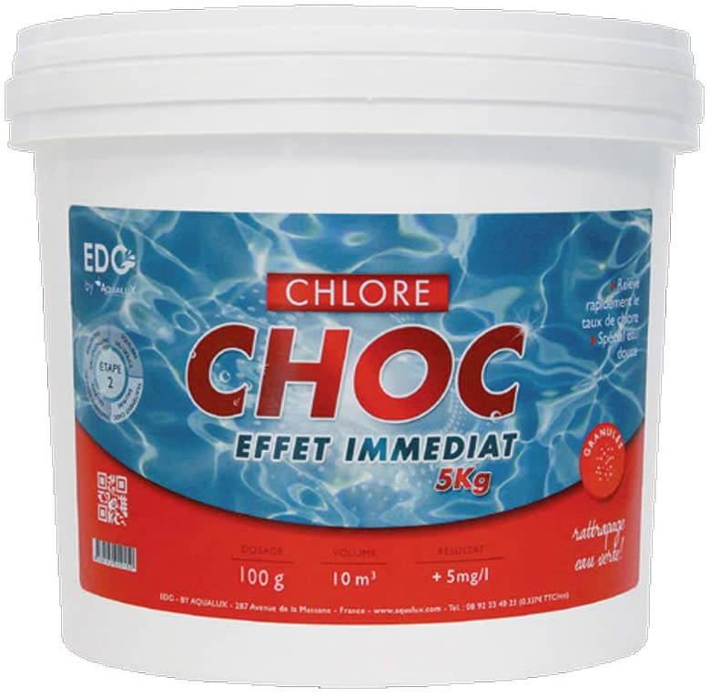 Chlore chock piscine