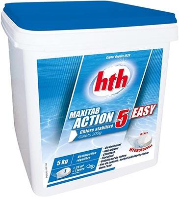 Chlore piscine multifonction Hth Maxitab Action 5 Easy référence de la marque K801765H1